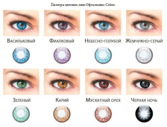 Линзы для смены цвета глаз
