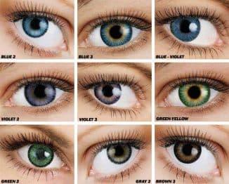 однодневные цветные контактные линзы,