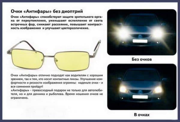 очки антифары