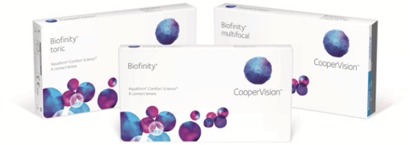 Всемирно известный производитель контактных линз CooperVision представил новый дизайн упаковок для продукции Biofinity