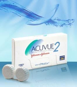 линзы Acuvue 2 - гидрогелевые контактные линзы 2-х недельного срока ношения