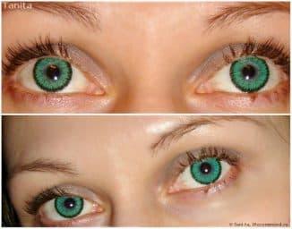 цветные зеленые контактные линзы
