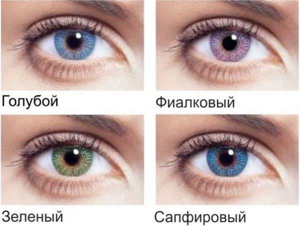 оттеночные линзы для глаз