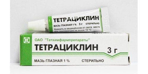 Мазь для глаз Тетрациклин: инструкция по применению, как наносить, как мазать от ячменя, ребенку и взрослому