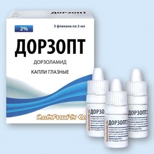 Дорзопт применяют для лечения глаукомы