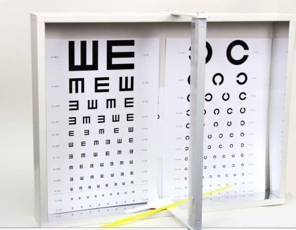таблица для определения остроты зрения
