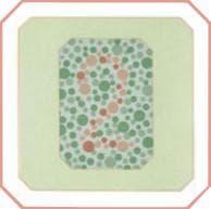 проверка зрения на цветовосприятие по тесту на дальтонизм. Картинка 26