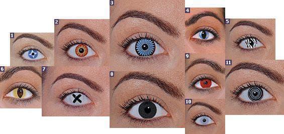 Карнавальные линзы для глаз цветные с диоптриями контактные