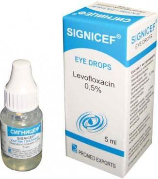 Антибиотические капли для глаз