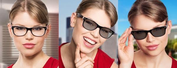 Фотохромные очки для зрения