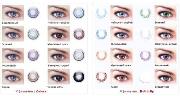 оттеночные линзы для светлых глаз