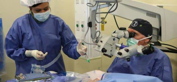 лечение отслоения сетчатки хирургическим путем