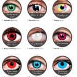 Карнавальные линзы: особенности, виды, марки