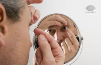 ношение контактных линз