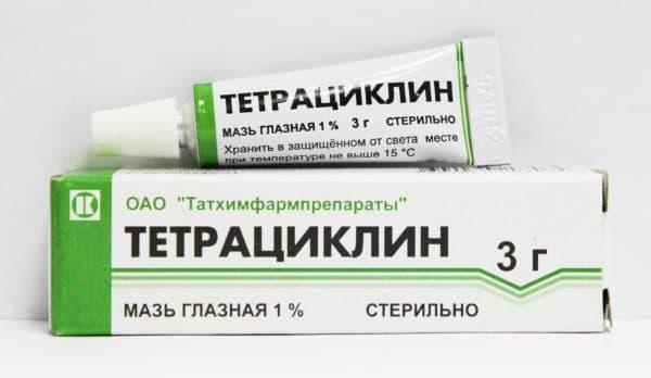 Тетрациклиновая мазь используется при лечении ячменя